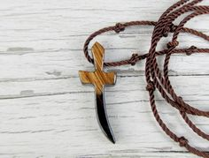 Wood Cross Necklace  Ebony & African Zebrawood  by TheLotusShop, $16.95
