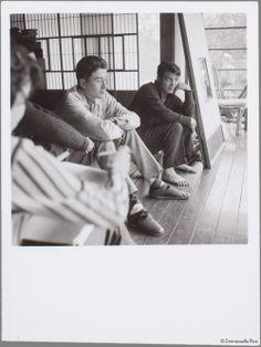 Alain Resnais on set of Hiroshima Mon Amour