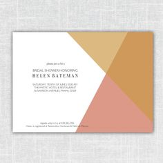 Helen Modern Geometric Bridal Shower Invitation Baby by BeanPress, $15.00