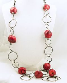 Mothers Day  Red Coral Jewelry Set  Red Coral by LKSoriginals, $45.00