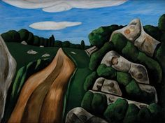 Marsden Hartley (1877-1943). Summer Outward Bound, Gloucester, 1931. Oil on board.  Gift of the estate of Robert L. French, 2009. [Acc. #2009.51.9]