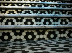 Black and white ceramic hexagonal tiling in Hove, East Sussex| Flickr - Photo Sharing!