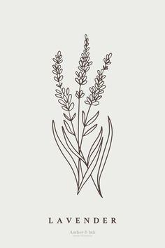 Mini Tattoos, Cute Tattoos, Black Tattoos, Small Tattoos, Hand Embroidery Patterns, Embroidery Art, Lavender Tattoo, Floral Drawing, Botanical Illustration