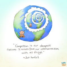*Today's Buddha Doodle* - Compassion is our deepest nature. It arises from our interconnection with all things. ~ Jack Kornfield