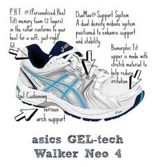 Asics walking shoes for problem feet. The perfect mix of cushion and support.