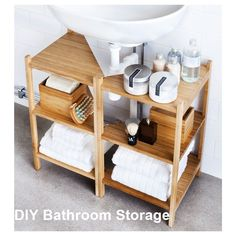 IKEA - RÅGRUND, Sink shelf/corner shelf, bamboo, You can use the space under your sink for storage by putting two shelves together. Bamboo is a durable, natural material. Diy Bathroom Storage, Corner Shelves, Diy Bathroom, Diy Bathroom Decor, Storage Design, Tiny Bathroom, Diy Storage, Bathroom Storage, Bathroom Design