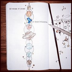 SO MAYBE I'M DEVINE SO MAYBE I'M CELESTIAL #bujo #celestial #planets