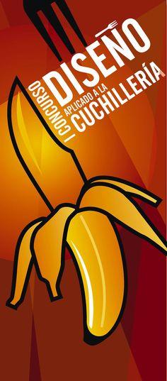 Cartel propuesto para la promoción del I Concurso de Diseño Aplicado a la Cuchillería.