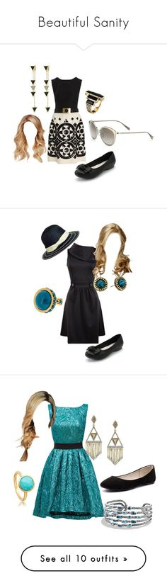 """""""Beautiful Sanity"""" by secretly-a-fangirl ❤ liked on Polyvore featuring 1960s, americanhorrorstory, asylum, Valentino, House of Harlow 1960, Sonoma life + style, Oliver Peoples, Christian Pellizzari, David Yurman and Verali"""