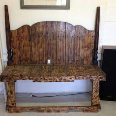 $230 pallet head board bench
