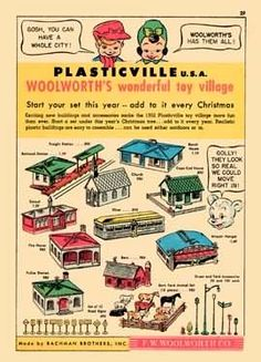 Plasticville, Woolworth 1952 ... I had several pieces of this series that I used with my Marx train set