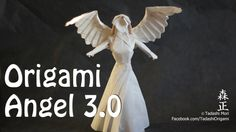 How to make an origami Angel (Tadashi Mori) Origami Yoda, Origami And Kirigami, Origami Dragon, Origami Paper Art, Origami Fish, Origami Folding, Oragami, Paper Folding, Christmas Fayre Ideas
