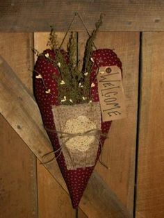 homespun decorating   Homespun Primitives, Handmade, Primitive Decor, Co   Prim Hearts
