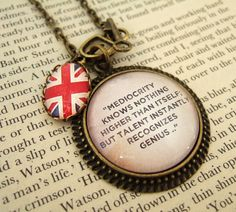 Sherlock Necklace Sherlock Holmes Quote Literary Quote Necklace Literary Necklace UK. £20.00, via Etsy. i really want one..........