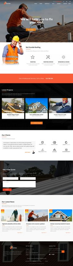 Roofing is a powerful WordPress #theme for roofing, #construction and renovation companies #website. Download Now!
