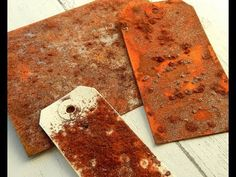 (8098) How To Create the look of Realistic Rust with Tim Holtz Distress Resist Spray and Seth Apter Baked T - YouTube JENNY MARPLES