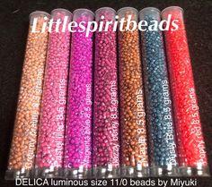 Delica Miyuki luminous seed beads Toho, Preciosa jewelry making supplies new items added regularly to the website. Same day shipping. Littlespiritbeads.com
