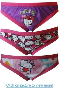 fa5d9aaae810 Hello Kitty 3 Pack Girls Bikini Style Panties for girls Girls Pjs, Tween  Girls,