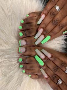 Acrylic Toes, Acrylic Nail Tips, Summer Acrylic Nails, Cute Acrylic Nails, Acrylics, Drip Nails, Aycrlic Nails, Swag Nails, Nail Prices