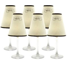 Wine Glasses + Flameless Tea Lights + Mini Lampshades U003d AWESOME |  Celebrate! | Pinterest | Lampshades, Wine And Centerpieces