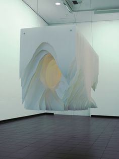 Deep Tunnels and Caves of Suspended Torn Paper by Angela Glajcar Image provided by Heitsch Gallery