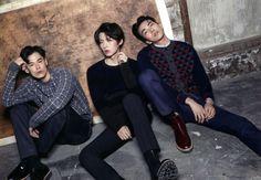 Kim Won Jung, Ahn Jae Hyun, Do Sang Woo for Arena Korea Sept 2014