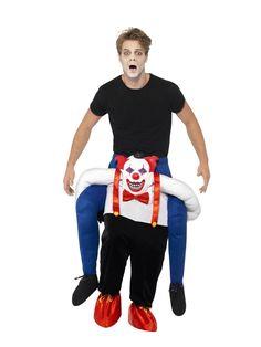 Sinister Clown Piggy Back Ride On Halloween Adults Mens Fancy Dress Costume Funny Costumes, Mascot Costumes, Cool Costumes, Adult Costumes, Costume Ideas, Scary Clown Mask, Scary Clowns, Halloween Wigs, Halloween Kostüm