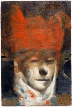 Tom Wood, Head II, Oil on panel