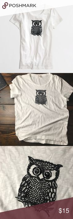 NWT J. Crew owl tee In perfect condition NWT owl tee shirt by j crew. J. Crew Factory Tops Tees - Short Sleeve
