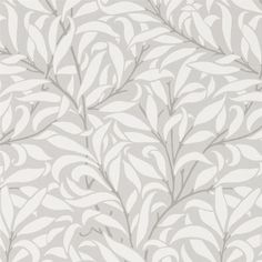 Pure Willow Bough Wallpaper An update on the original Willow Bough design, this stylish wallpaper is shown with textured leaves in off-white on an dove grey ground.