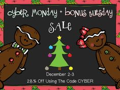 TpT Cyber Monday Sale - Up to 28% Off!