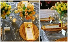 Bring on the sunshine! These yellow color palettes will be sure to make a lasting impression at your next event.   Jump Into Spring with Yellow Palettes | BBJ Linen