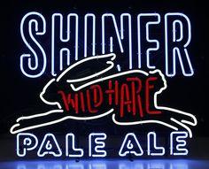 Wild Hare Pale Ale neon sign.