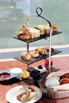 Did you know that our Mandarin High Tea Set is perfect for both sweet and savoury FANs? Apart from offering a selection of sandwiches, cakes and scones with clotted cream and rose petal jam, it also includes a selection of warm savouries such as a spinach & feta puff, a bacon & onion quiche, a sausage roll and a madeleine. Which one is your favourite?