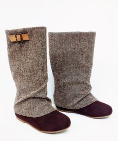 Look at this Tweed Hadley Boot - Kids on #zulily today!