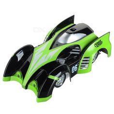 C1 USB Rechargeable 2.4GHz 4-CH Remote Control RC Wall Climbing Climber Car Toy - Green + Black. Find the cool gadgets at a incredibly low price with worldwide free shipping here. C1 USB Rechargeable 4-CH RC Wall Climbing Climber Car Toy - Green, R/C Cars, . Tags: #Hobbies #Toys #R/C #Toys #R/C #Cars
