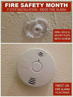 *Paid Partnership* - Kidde Fire Alarm Installation for Fire Safety Month Fire Safety Tips, Random Items, Giveaways, Blogging, Household, Health, Products, Health Care, Salud
