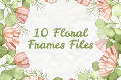 10 FLORAL FRAMES
