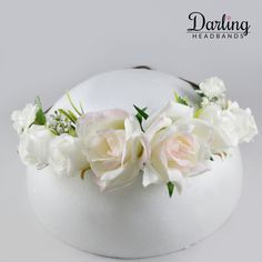 Your very first decision must be whether you plan to utilize an expert florist to produce a wedding event flower plan and arrangements. White Rose Flower, White Wedding Flowers, White Roses, Flower Headband Wedding, Flower Crown, Wedding Curls, Perfect Wedding, Are You Happy, Wedding Events
