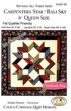#FQSgiftguide Carpenters Star Quilt Pattern Calico Carriage Quilt Designs