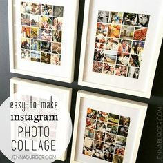 Easy-to-Make Photo Collage using Instagram or digital photos for $5. Tutorial by Jenna Burger, www.jennaburger.com