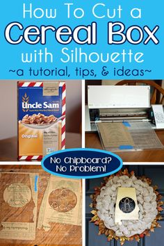How To Cut a Cereal Box with Silhouette #Silhouette #Silhouetteideas #silhouetteprojects #silhouettecameo #silhouettetutorials