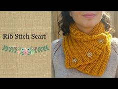 How to Knit a Simple and Fast Scarf (Rib Stitch)