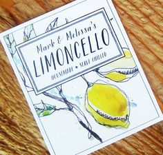 Limoncello Lemoncello Labels or Gift Tag, Set of 18 on Etsy, € Lemon Drawing, Limoncello Recipe, Italian Party, Canning Labels, Lemon Yellow, Lemon Curd, Wine And Spirits, For Love And Lemons, Lemonade