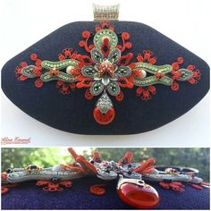 Jewelry clutch with soutache 3D