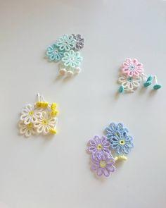 Used Hobbies For Sale Product Tatting Earrings, Tatting Jewelry, Crochet Earrings, Needle Tatting, Tatting Lace, Crochet Hair Accessories, Handmade Accessories, Beaded Flowers, Crochet Flowers