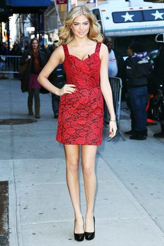 Kate Upton at the Late Show with David Letterman.
