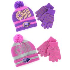 Dreamworks Home Girls Oh Knit Hat with Gloves Set HOF48514ST One Size #Dreamworks #KnitHat