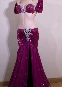 Dance Fairy Jupes de Danse du Ventre en Satin de Soie pour Femme