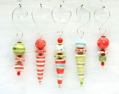 Stacked Ornaments Project and Making A Simple Wire Loop